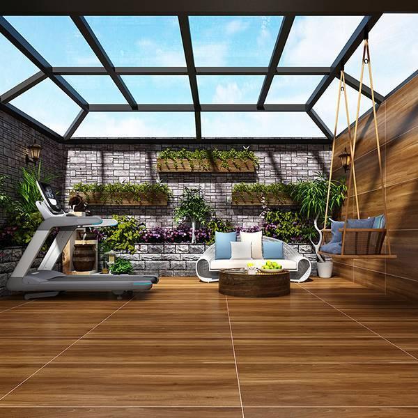 欧博德电地暖 电加热地暖瓷砖 速热地板砖 智能发热地砖 自发热瓷砖 北欧胡桃 MF12510