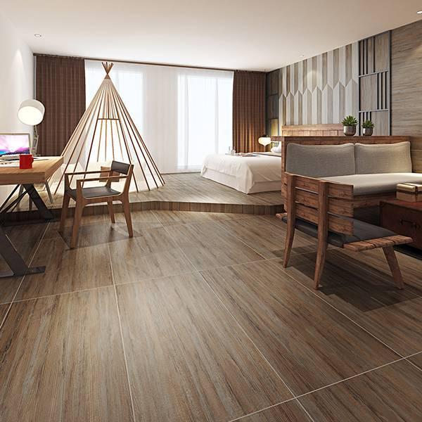 电加热地暖瓷砖 速热地板砖 御品红木 MF12506