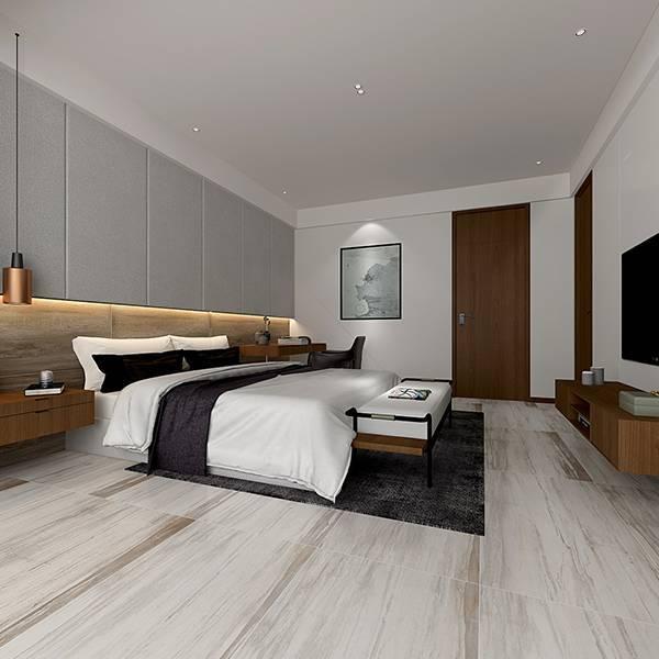 电加热地暖瓷砖 速热地板砖 白橄榄木 MF12503