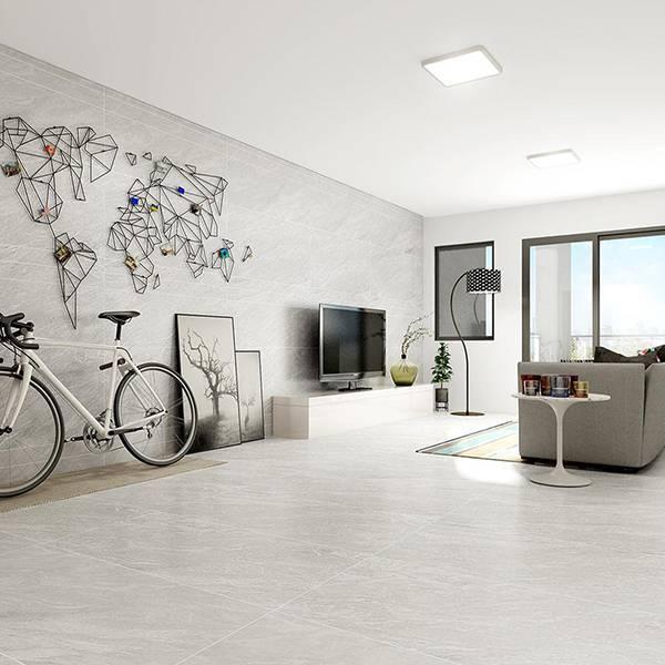 欧博德电地暖 电加热地暖瓷砖 速热地板砖 智能发热地砖 自发热瓷砖 银狐灰 MF12013